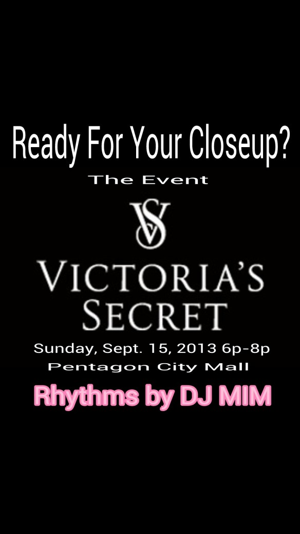 DJ MIM spinning in Victoria's Secret