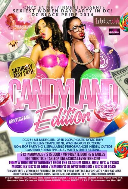 Candyland at the Stadium Club - DC Black Pride