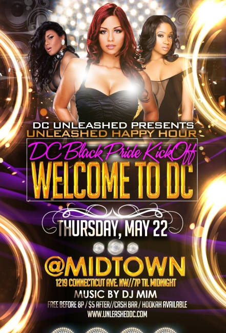 Welcome to DC UNLEASHED Happy Hour - DC Black Pride