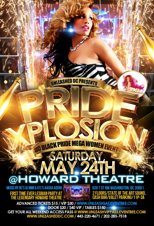 The MAIN EVENT - XPlosion at the Howard Theatre - DC Black Pride