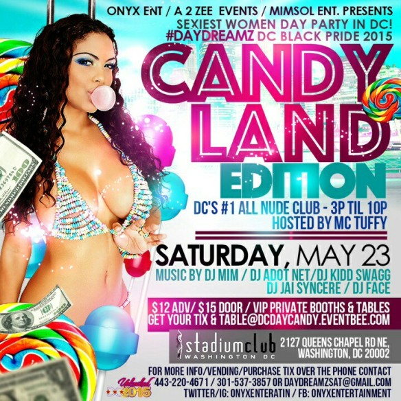 DC Black Pride 2015 - Candyland at the Stadium Club