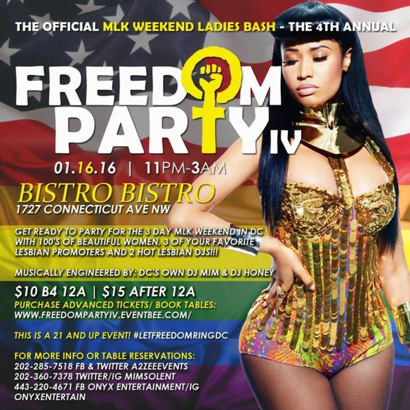 4th Annual MLK Weekend Ladies Bash - FREEDOM PARTY IV